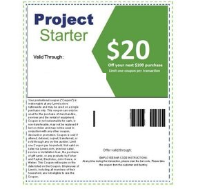 Get your $10 OFF $50 Printable Lowes Coupon delivered instantly to your inbox 24/7. This can be used once In-Store or Online and can save you Up to $