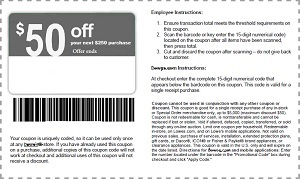 picture about Lowes 50 Off 250 Printable Coupon identify Emailed Lowes $50 off $250 coupon codes