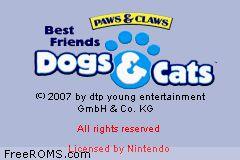 Best Friends Dogs Cats Gba