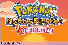Pokemon Mystery Dungeon - Red Rescue Team Screen Shot 1
