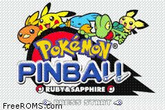 Pokemon Pinball - Ruby And Sapphire Screen Shot 1