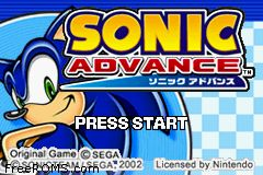 Sonic Advance Screen Shot 1