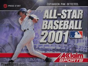 All Star Baseball 2001 Screen Shot 1
