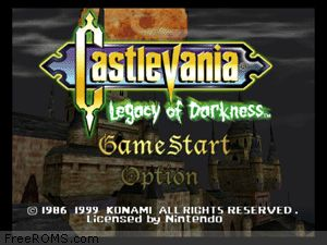 Castlevania - Legacy of Darkness Screen Shot 1