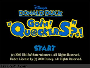 Disney's Donald Duck - Goin' Quackers Screen Shot 1