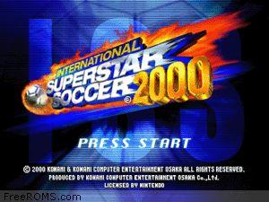 International Superstar Soccer 2000 Screen Shot 1