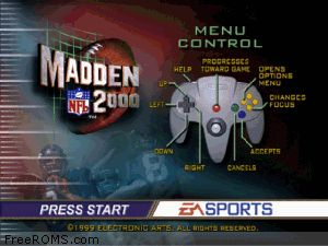 Madden NFL 2000 Screen Shot 1