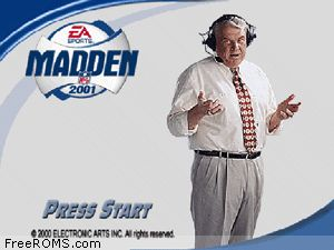Madden NFL 2001 Screen Shot 1
