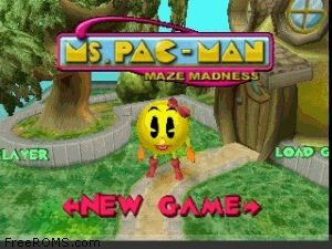 Ms. Pac-Man - Maze Madness Screen Shot 1