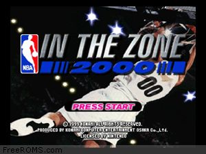 NBA In the Zone 2000 Screen Shot 1