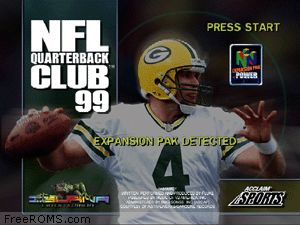 NFL Quarterback Club 99 Screen Shot 1